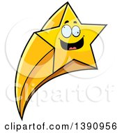 Clipart Of A Cartoon Crazy Shooting Star Mascot Character Royalty Free Vector Illustration by Cory Thoman
