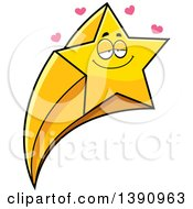 Clipart Of A Cartoon Loving Shooting Star Mascot Character Royalty Free Vector Illustration by Cory Thoman