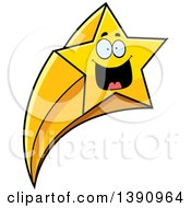 Clipart Of A Cartoon Happy Shooting Star Mascot Character Royalty Free Vector Illustration by Cory Thoman