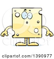 Clipart Of A Cartoon Surprised Swiss Cheese Mascot Character Royalty Free Vector Illustration