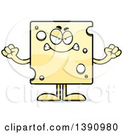 Clipart Of A Cartoon Mad Swiss Cheese Mascot Character Royalty Free Vector Illustration