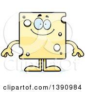 Cartoon Happy Swiss Cheese Mascot Character