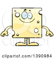Clipart Of A Cartoon Happy Swiss Cheese Mascot Character Royalty Free Vector Illustration