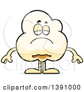 Cartoon Depressed Popcorn Mascot Character