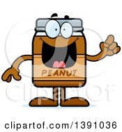 Clipart Of A Cartoon Peanut Butter Jar Mascot Character With An Idea Royalty Free Vector Illustration