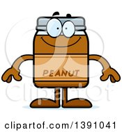Clipart Of A Cartoon Happy Peanut Butter Jar Mascot Character Royalty Free Vector Illustration