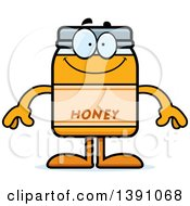 Clipart Of A Cartoon Happy Honey Jar Mascot Character Royalty Free Vector Illustration by Cory Thoman