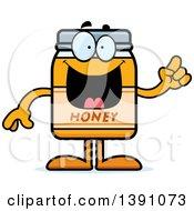 Clipart Of A Cartoon Honey Jar Mascot Character With An Idea Royalty Free Vector Illustration by Cory Thoman