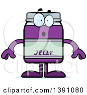 Clipart Of A Cartoon Surprised Grape Jam Jelly Jar Mascot Character Royalty Free Vector Illustration by Cory Thoman