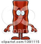 Cartoon Happy Crispy Bacon Character