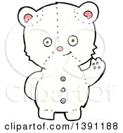 Clipart Of A Cartoon Teddy Polar Bear Royalty Free Vector Illustration by lineartestpilot
