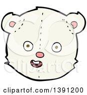 Clipart Of A Cartoon Teddy Polar Bear Royalty Free Vector Illustration by lineartestpilot