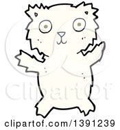 Clipart Of A Cartoon Polar Bear Royalty Free Vector Illustration by lineartestpilot