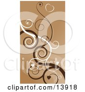 Heart Swirls Abstract Background Clipart Illustration