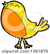 Poster, Art Print Of Cartoon Yellow Bird