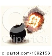 Clipart Of A 3d Exploding Bob On An Off White Background Royalty Free Illustration