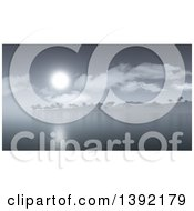 Clipart Of A 3d Misty Coastal Island Royalty Free Illustration