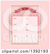 Clipart Of A Weekly To Do List With A Chevron Pattern On Pink Royalty Free Vector Illustration