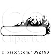 Black And White Long Rectangular Flaming Label Frame Design