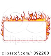 Rectangular Flaming Label Frame Design