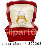 Diamond Ring In A Jewelery Box