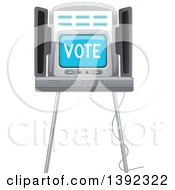 Clipart Of A Voting Machine Royalty Free Vector Illustration