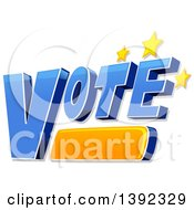 Clipart Of The Word VOTE With Stars Royalty Free Vector Illustration by BNP Design Studio
