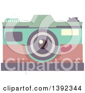 Clipart Of A Flat Design Camera Royalty Free Vector Illustration by BNP Design Studio