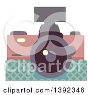 Clipart Of A Flat Design Camera Royalty Free Vector Illustration