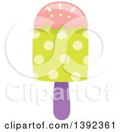 Clipart Of A Flat Design Popsicle Royalty Free Vector Illustration