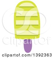 Clipart Of A Flat Design Popsicle Royalty Free Vector Illustration by BNP Design Studio