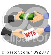Clipart Of A Politician Buying Votes Royalty Free Vector Illustration