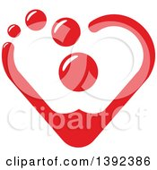 Clipart Of A Red Heart Made Of Blood Drops Royalty Free Vector Illustration by Vector Tradition SM
