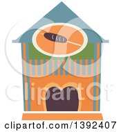 Clipart Of A Flat Design Restaurant Store Front Royalty Free Vector Illustration