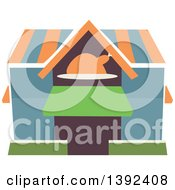 Clipart Of A Flat Design Restaurant Store Front Royalty Free Vector Illustration by BNP Design Studio