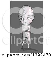 Clipart Of A Sad Man After Being Beat Up Royalty Free Vector Illustration
