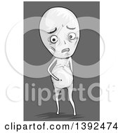 Clipart Of A Malnourished Man With A Bloated Tummy Royalty Free Vector Illustration