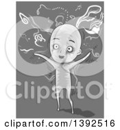 Clipart Of A Man Hallucinating Royalty Free Vector Illustration