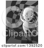 Clipart Of A Man Traveling To Another Dimension Royalty Free Vector Illustration