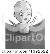 Clipart Of A Man Stuck In Quick Sand Royalty Free Vector Illustration
