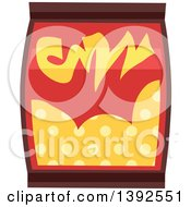 Clipart Of A Flat Design Snack Bag Royalty Free Vector Illustration