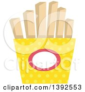 Clipart Of A Flat Design Container Of French Fries Royalty Free Vector Illustration by BNP Design Studio