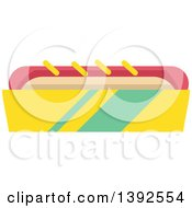 Clipart Of A Flat Design Hot Dog Royalty Free Vector Illustration
