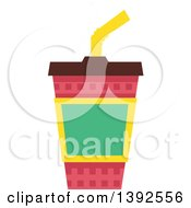 Clipart Of A Flat Design Fountain Soda Royalty Free Vector Illustration by BNP Design Studio