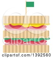 Clipart Of A Flat Design Sandwich Royalty Free Vector Illustration by BNP Design Studio