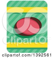 Clipart Of A Flat Design Bag Of Potato Chips Royalty Free Vector Illustration