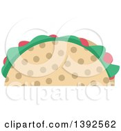 Clipart Of A Flat Design Taco Royalty Free Vector Illustration by BNP Design Studio