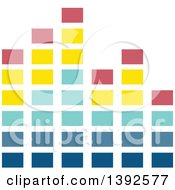 Clipart Of A Flat Design Equalizer Royalty Free Vector Illustration