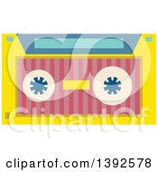 Clipart Of A Flat Design Cassette Tape Royalty Free Vector Illustration by BNP Design Studio