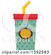Clipart Of A Flat Design Fountain Soda Royalty Free Vector Illustration